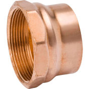 Mueller W 07221 1-1/2 In. Wrot Copper DWV Female Adapter - Copper X FPT