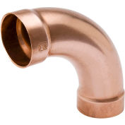 Mueller W 07454 4 In. Wrot Copper 90 Degree DWV EXtra Long Radius Elbow - Copper