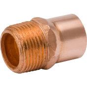 Mueller WB01131 1/2 In. Wrot Copper Male Adapter - Copper X Male Adapter