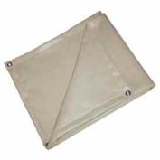 6' X 6' Heat Treated Fiberglass Welding Blanket, 18 oz. Beige - BIS-18-0606