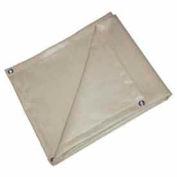 6' X 8' Heat Treated Fiberglass Welding Blanket, 18 oz. Beige - BIS-18-0608