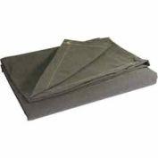10' X 10' Heavy Duty 10 oz. Flame Resistant Canvas Tarp Olive Drab - CTF-10-01-1010