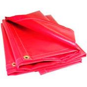 12' X 14' Red 13 oz. Flame Retardant Vinyl