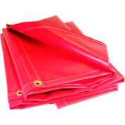 20' X 20' Red 13 oz. Flame Retardant Vinyl Runner Salvage Cover