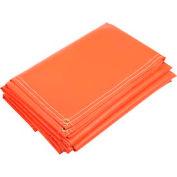 6' X 8' Orange 18 Oz Vinyl Coated Poly Tarp