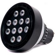 Moon Visions 14W 5K NFL 12VBR30-U-BZT 14W 12V Cool White Narrow Flood LED Uplight-Bronze Texture