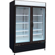 "Kool-It KGF-48 - Freezer Merchandiser, 48 Cu. Ft., 2 Glass Doors, Black, 79-1/2""H x 54""W"