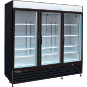 "Kool-It KGF-72 - Freezer Merchandiser, 72 Cu. Ft., 3 Glass Doors, Black, 79-1/2""H x 81""W"