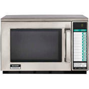 Sharp® R-22GTF, Commercial Microwave Oven, 0.7 Cu. Ft., 1200 Watt, KeyPad Control