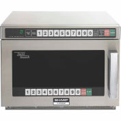 """Sharp R-CD2200M - Commercial Microwave Oven, TwinTouch, 2200W, S/S, 17-1/2""""W x 22-9/16""""H x 13-5/8""""D"""