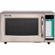 Sharp R-21-LVF - Commercial Microwave Oven, Medium Duty, 1000W, 1.0 Cu. Ft., Stainless Steel