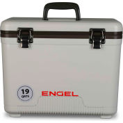 Engel®  UC19, Cooler/Dry Box, 19 Qt., White, Polypropylene - Pkg Qty 4