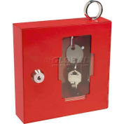 "Barska Breakable Emergency Key Box with Attached Hammer A Style, 6""W x 1-5/8""D x 6""H"