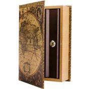 "Barska Antique Map Diversion Book Lock Box With Keyed Lock CB12480 10-3/4"" x 7"" x 2-3/4"""