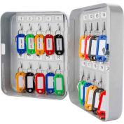 """Barska Key Lock Box With Keyed Lock CB12482 - 20 Key Cap. 6-1/4"""" x 3"""" x 8"""" Gray"""