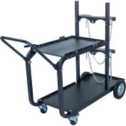 Metal Man® UWC4 - Heavy Duty Single/Dual Bottle Welding Cart