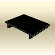 "MasonWays™ 30186 Display Base Pallet Side Stack Solid Top 30""W x 18""D x 6""H Black"