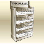 "MasonWays™ 341559 SM Mobile Shelf Merchandiser 34""W x 15""D x 59""H"