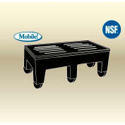 """MasonWays™ 362216 HDC PolyMight Dunnage Rack W/Casters 36""""W x 22""""D x 12""""H, 1200 Lbs. Capacity"""