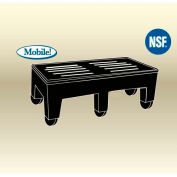 """MasonWays™ 482216 HDC PolyMight Dunnage Rack W/Casters 48""""W x 22""""D x 16""""H, 2000 Lbs. Capacity"""