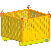 """M&W Heavy Duty Steel Vented Container 11829 - 48"""" x 48"""" x 24"""",  2500 Lb. Capacity"""