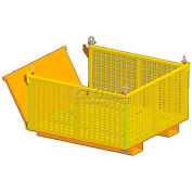 """M&W Heavy Duty Steel Vented Container Drop Side 12902 - 48""""x48""""x 28"""",2500 Lb. Capacity"""