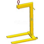 M&W Wheeled Multiple Adjustment Bale Lift Pallet Lifter - 4000 Lb. Capacity