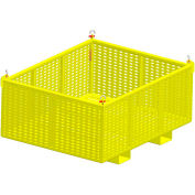 "M&W Heavy Duty Steel Vented Container 16006 Fixed Side 61-1/2""L x 49-1/2""W x 30""H 2500 Lb. Capacity"