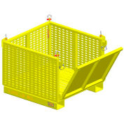 """M&W Heavy Duty Steel Vented Container 17594 -  Drop Side 40""""L x 37-1/2""""W x 30""""H, 2500 Lb. Capacity"""