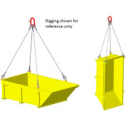 """M&W Heavy Duty Steel Vented Container with Sloped End 120"""" x 48"""" x 36"""" - 6000 Lb. Capacity"""