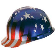 Us Patriotic V-Gard Hard Hat - Pkg Qty 10