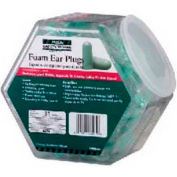 100-Pair Expandable Foam Ear Plugs In Fishbowl Counter Dispenser - Pkg Qty 3