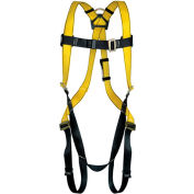 Safety Works Harness, Qwik-Fit, D-Ring, Standard, 10096486