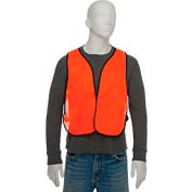 Hi-Vis Safety Vest Orange, One Size Fits All