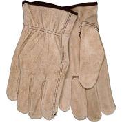 Suede Cowhide Premium Grain Leather Glove, C3130L, Large, Natural - Pkg Qty 12