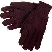 Mini Dot Jersey Work Gloves, C7810L Large, Brown - Pkg Qty 12