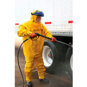 MCR Safety Hydroblast 2 Pc. Rain Suit, .35mm PVC/Poly, Limited Flammability, Yellow, 6XL