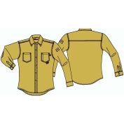MCR Safety Flame Resistant Long Sleeve Work Shirt, Tan, Regular, Size XL