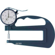 """Mitutoyo 7322S 0-1"""" Flat Wide Throat Dial Thickness Gage"""