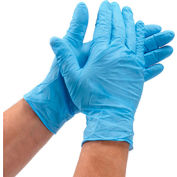 Defend® Medical/Exam Textured Nitrile Gloves, Powder-Free, Blue, L, 100/Box, NG-2005
