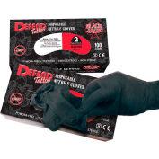 Defend® Blackjack Medical/Exam Textured Nitrile Glove, Powder-Free, Black, XL, 100/Box, NG-8006