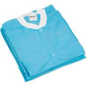 "Disposable Lab Coats - XL, 39""L, 10/Pack"