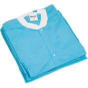 "Disposable Lab Coats - 2XL, 39""L, 10/Pack"