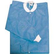Defend Plus Disposable Jacket Sky Blue, L, 10/Pkg, SJ-3630SBL