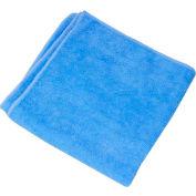 Blue Terry Plush Microfiber Towel - Min Qty 10
