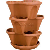 "Akro-Mils Mini Stack-A-Pot™ Planter RZ.JMINOE22, 15-3/4""H X 13-5/8"" Dia., Clay"