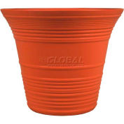 "Listo™ Sedona Elite Planter SEA14001F66, 11-3/4""H X 14"" Dia., Bronze Orange"