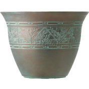 "Listo™ Metallic Versailles Patina Planter VPA16001P01, 11-7/8""H X 16"" Dia., Ancient Brass"