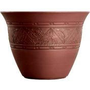 "Listo™ Metallic Versailles Patina Planter VPA16001P10, 11-7/8""H X 16"" Dia., Red Bordeaux"
