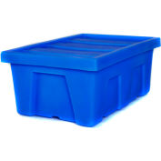 "Myton Bulk Shipping Poly Container MTA-2 With Lid 38-1/2""L x 26""W x 16""H, Red"